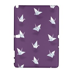 Goose Swan Animals Birl Origami Papper White Purple Galaxy Note 1