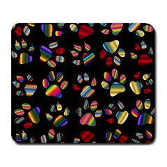 Colorful Paw Prints Pattern Background Reinvigorated Large Mousepads