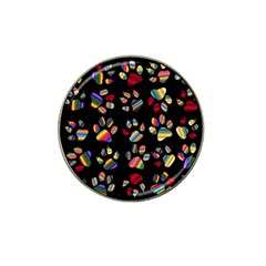 Colorful Paw Prints Pattern Background Reinvigorated Hat Clip Ball Marker (4 pack)