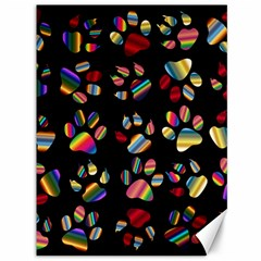 Colorful Paw Prints Pattern Background Reinvigorated Canvas 36  X 48
