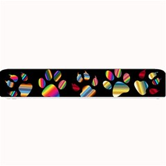 Colorful Paw Prints Pattern Background Reinvigorated Small Bar Mats