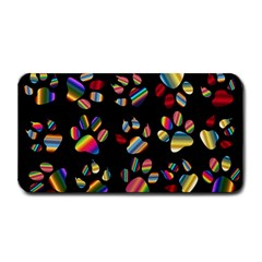 Colorful Paw Prints Pattern Background Reinvigorated Medium Bar Mats