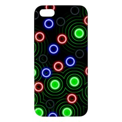 Neons Couleurs Circle Light Green Red Line iPhone 5S/ SE Premium Hardshell Case