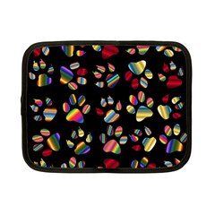 Colorful Paw Prints Pattern Background Reinvigorated Netbook Case (Small)