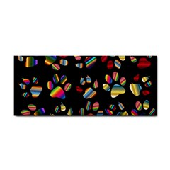 Colorful Paw Prints Pattern Background Reinvigorated Cosmetic Storage Cases