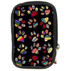 Colorful Paw Prints Pattern Background Reinvigorated Compact Camera Cases