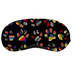 Colorful Paw Prints Pattern Background Reinvigorated Sleeping Masks
