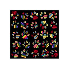 Colorful Paw Prints Pattern Background Reinvigorated Acrylic Tangram Puzzle (4  X 4 )