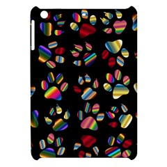Colorful Paw Prints Pattern Background Reinvigorated Apple Ipad Mini Hardshell Case