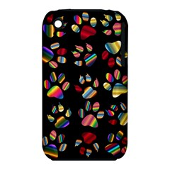 Colorful Paw Prints Pattern Background Reinvigorated Iphone 3s/3gs