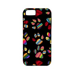 Colorful Paw Prints Pattern Background Reinvigorated Apple iPhone 5 Classic Hardshell Case (PC+Silicone)