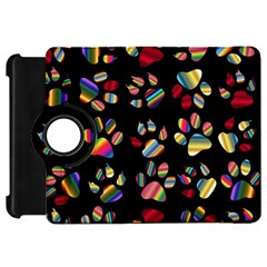 Colorful Paw Prints Pattern Background Reinvigorated Kindle Fire Hd 7