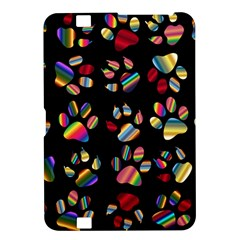 Colorful Paw Prints Pattern Background Reinvigorated Kindle Fire Hd 8 9