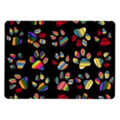 Colorful Paw Prints Pattern Background Reinvigorated Samsung Galaxy Tab 10 1  P7500 Flip Case