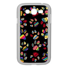 Colorful Paw Prints Pattern Background Reinvigorated Samsung Galaxy Grand Duos I9082 Case (white)