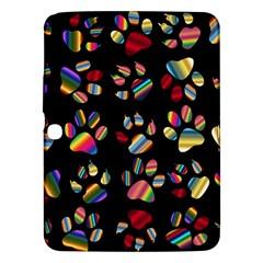 Colorful Paw Prints Pattern Background Reinvigorated Samsung Galaxy Tab 3 (10 1 ) P5200 Hardshell Case
