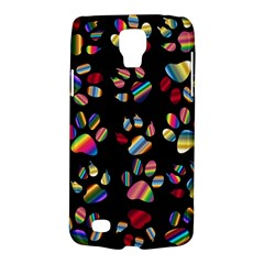 Colorful Paw Prints Pattern Background Reinvigorated Galaxy S4 Active