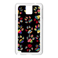 Colorful Paw Prints Pattern Background Reinvigorated Samsung Galaxy Note 3 N9005 Case (white)