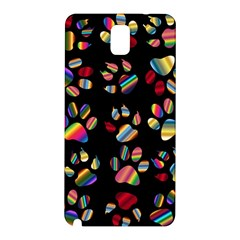 Colorful Paw Prints Pattern Background Reinvigorated Samsung Galaxy Note 3 N9005 Hardshell Back Case