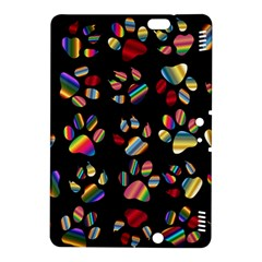 Colorful Paw Prints Pattern Background Reinvigorated Kindle Fire Hdx 8 9  Hardshell Case