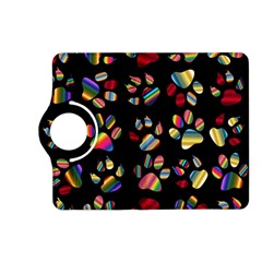 Colorful Paw Prints Pattern Background Reinvigorated Kindle Fire Hd (2013) Flip 360 Case