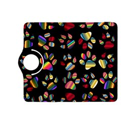 Colorful Paw Prints Pattern Background Reinvigorated Kindle Fire Hdx 8 9  Flip 360 Case