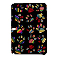 Colorful Paw Prints Pattern Background Reinvigorated Samsung Galaxy Tab Pro 10 1 Hardshell Case