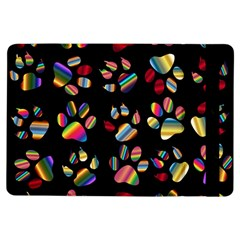Colorful Paw Prints Pattern Background Reinvigorated Ipad Air Flip