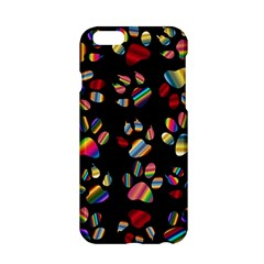 Colorful Paw Prints Pattern Background Reinvigorated Apple iPhone 6/6S Hardshell Case