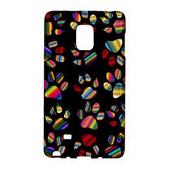 Colorful Paw Prints Pattern Background Reinvigorated Galaxy Note Edge
