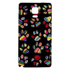 Colorful Paw Prints Pattern Background Reinvigorated Galaxy Note 4 Back Case