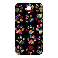 Colorful Paw Prints Pattern Background Reinvigorated Samsung Galaxy Mega I9200 Hardshell Back Case