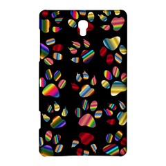 Colorful Paw Prints Pattern Background Reinvigorated Samsung Galaxy Tab S (8 4 ) Hardshell Case