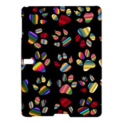 Colorful Paw Prints Pattern Background Reinvigorated Samsung Galaxy Tab S (10 5 ) Hardshell Case