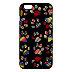 Colorful Paw Prints Pattern Background Reinvigorated Iphone 6 Plus/6s Plus Tpu Case