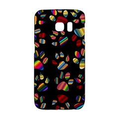 Colorful Paw Prints Pattern Background Reinvigorated Galaxy S6 Edge