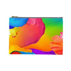 Paint Rainbow Color Blue Red Green Blue Purple Cosmetic Bag (Large)