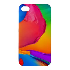 Paint Rainbow Color Blue Red Green Blue Purple Apple iPhone 4/4S Hardshell Case