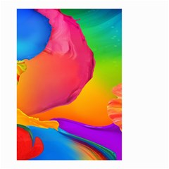 Paint Rainbow Color Blue Red Green Blue Purple Small Garden Flag (two Sides)