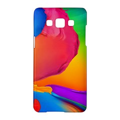 Paint Rainbow Color Blue Red Green Blue Purple Samsung Galaxy A5 Hardshell Case