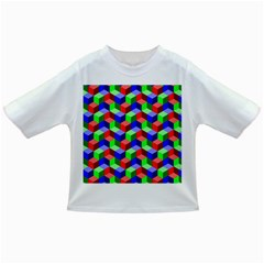 Seamless Rgb Isometric Cubes Pattern Infant/toddler T Shirts