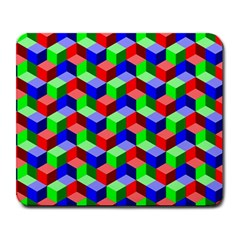 Seamless Rgb Isometric Cubes Pattern Large Mousepads