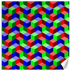 Seamless Rgb Isometric Cubes Pattern Canvas 20  X 20