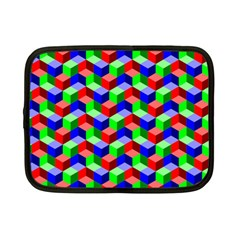 Seamless Rgb Isometric Cubes Pattern Netbook Case (Small)