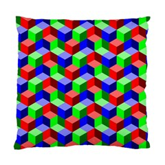 Seamless Rgb Isometric Cubes Pattern Standard Cushion Case (One Side)