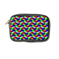 Seamless Rgb Isometric Cubes Pattern Coin Purse