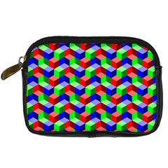 Seamless Rgb Isometric Cubes Pattern Digital Camera Cases