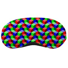 Seamless Rgb Isometric Cubes Pattern Sleeping Masks