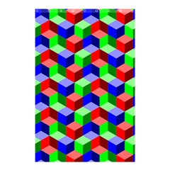Seamless Rgb Isometric Cubes Pattern Shower Curtain 48  X 72  (small)