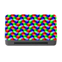Seamless Rgb Isometric Cubes Pattern Memory Card Reader With Cf